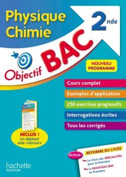 Objectif Bac Physique Chimie 2nde - 50- Grand format
