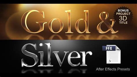 Gold & Silver Presets - YouTube