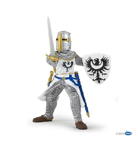 White knight with sword - Papo