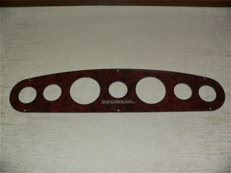 Instrument, gauge, switch, electronics blank panels for