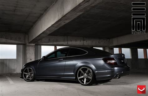 Cars vossen Tuning wheels Mercedes C250 coupe black