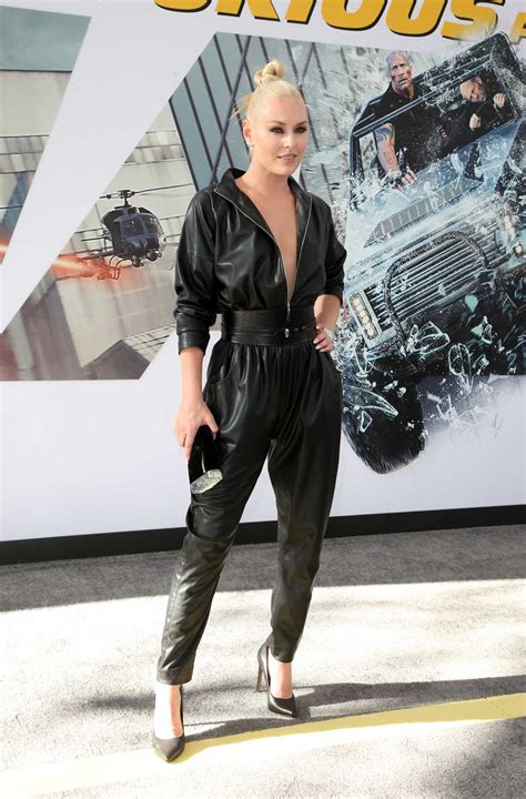 Lindsey Vonn Attends Hobbs and Shaw World Premiere in