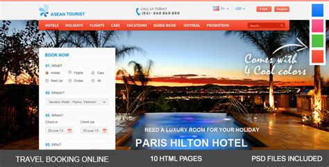 aTourist - Hotel, Travel Booking Site Template by