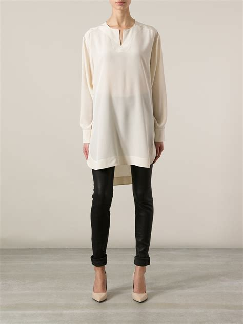 Lyst - Chloé Tunic Blouse in White