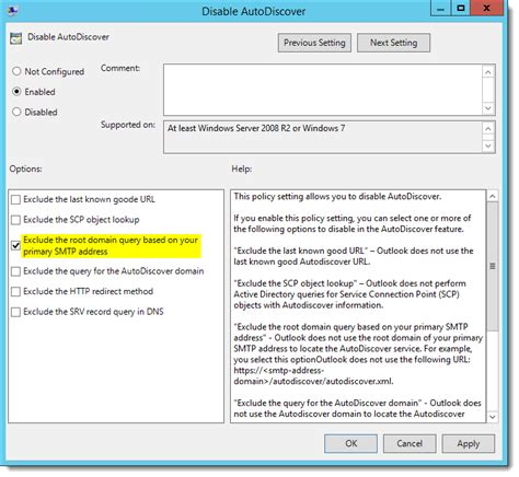 How to resolve slow Outlook 2016 Autodiscover with Office