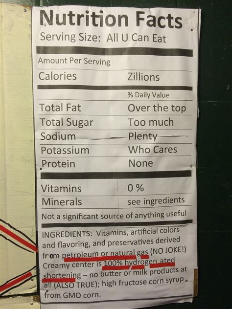 Halloween Candy Nutrition Facts   This haunted house in