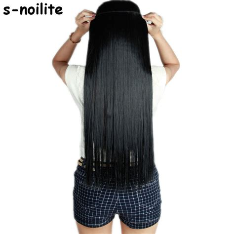 S noilite Fall to waist 46 76 CM Longest Clip in for human
