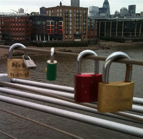 The lock of love: For years, couples from around the world
