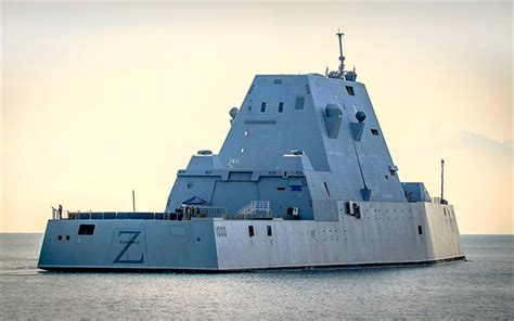 Download wallpapers USS Zumwalt, DDG-1000, guided missile
