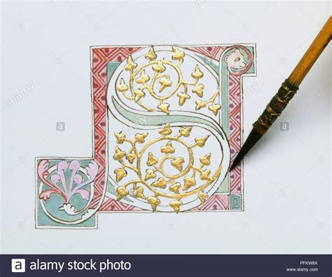 Medieval Illuminated Letter Stock Photos & Medieval