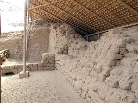 Temple of Sun and Moon pyramids build by the Moche