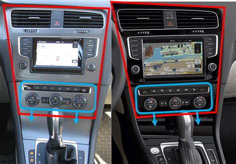 Tablette tactile Tesla Style VW Golf 7 : Android GPS Wifi