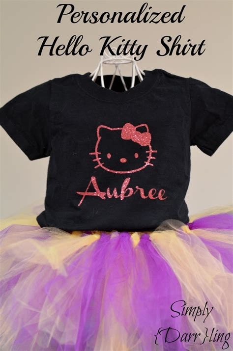 Personalized Hello Kitty Shirt - Simply {Darr}ling