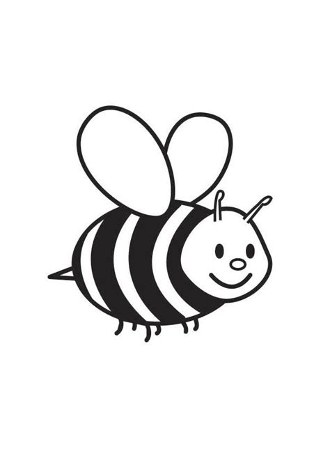 Coloring Page Bee - free printable coloring pages