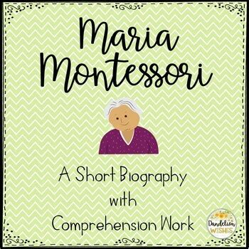 Maria Montessori Comprehension Work & Writing Paper by