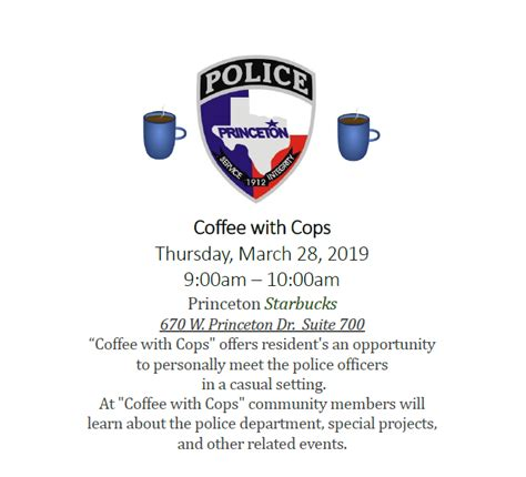 Coffee With Cops | City of Princeton