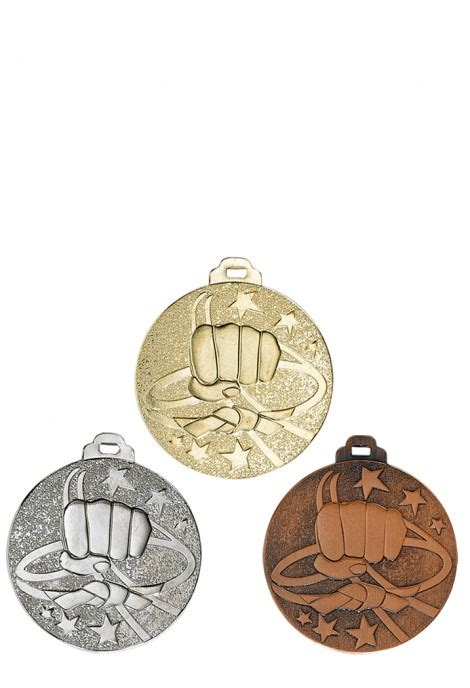 Médaille Karate NY06 : 50mm or-argent-bronze - Achat