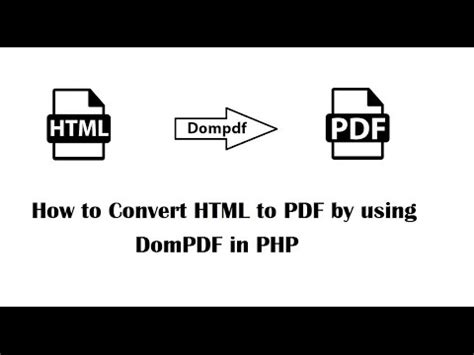 Convert HTML to PDF in PHP using Dompdf | Webslesson