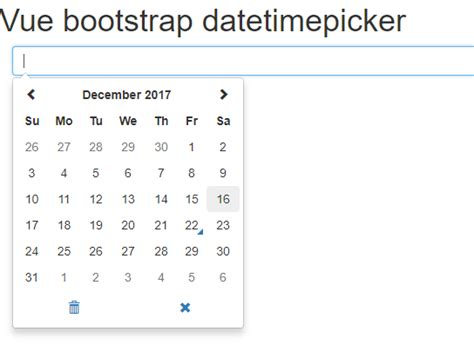 Bootstrap Date Picker For Vue