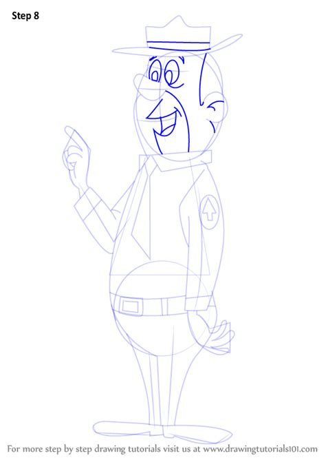 Step by Step How to Draw Ranger Smith from The Yogi Bear