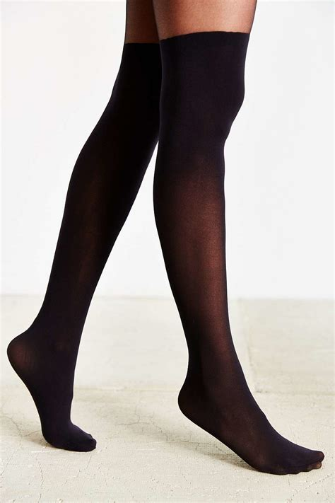Urban Outfitters Super High Faux Thigh High Tights in
