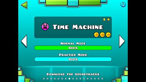 GEOMETRY DASH - Time machine (level 8) - All Coins - YouTube