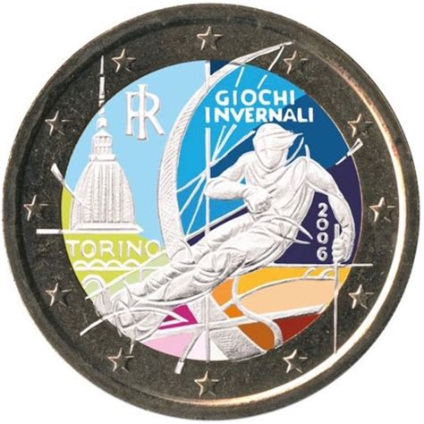 2 euro Italie 2006 Jeux Olympiques Turin couleur 3